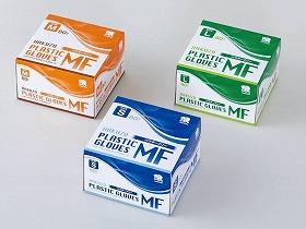 ハクゾウ プラスチックグローブMF パウダーフリー80枚 ケース/ハクゾウメディカル 施設関連商品 感染対策・予防関連品 グローブ 介護用品