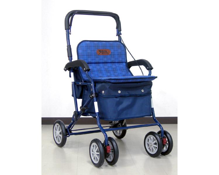 アルミ製シルバーカー PW-298(ネイビー)【幸和製作所】送料無料 介護用品 シルバーカー 歩行補助