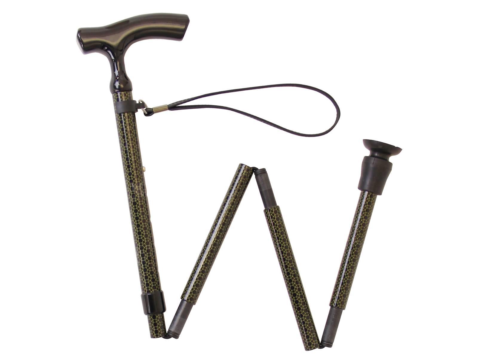 テイコブ 折りたたみ式伸縮カーボンステッキ CAF01 / 幸和製作所介護用品 杖 ステッキ 歩行補助 折りたたみ 軽量