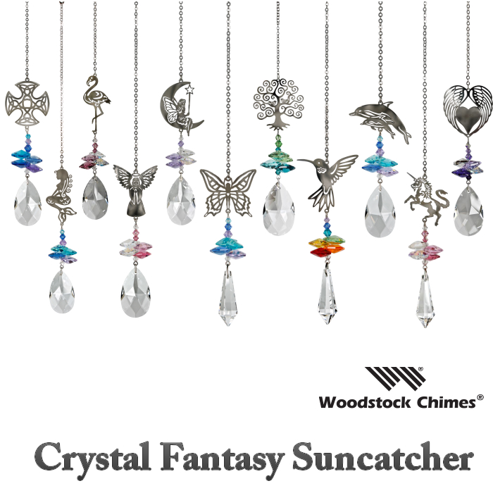 太陽の光でキラッキラッ 幸せを呼ぶインテリア クリスタル ファンタジー サンキャッチャー WoodstockChimes ギフト Crystal Fantasy 浄化 風水 高級 窓辺 玄関 クリスマス ヒーリング Suncatcher