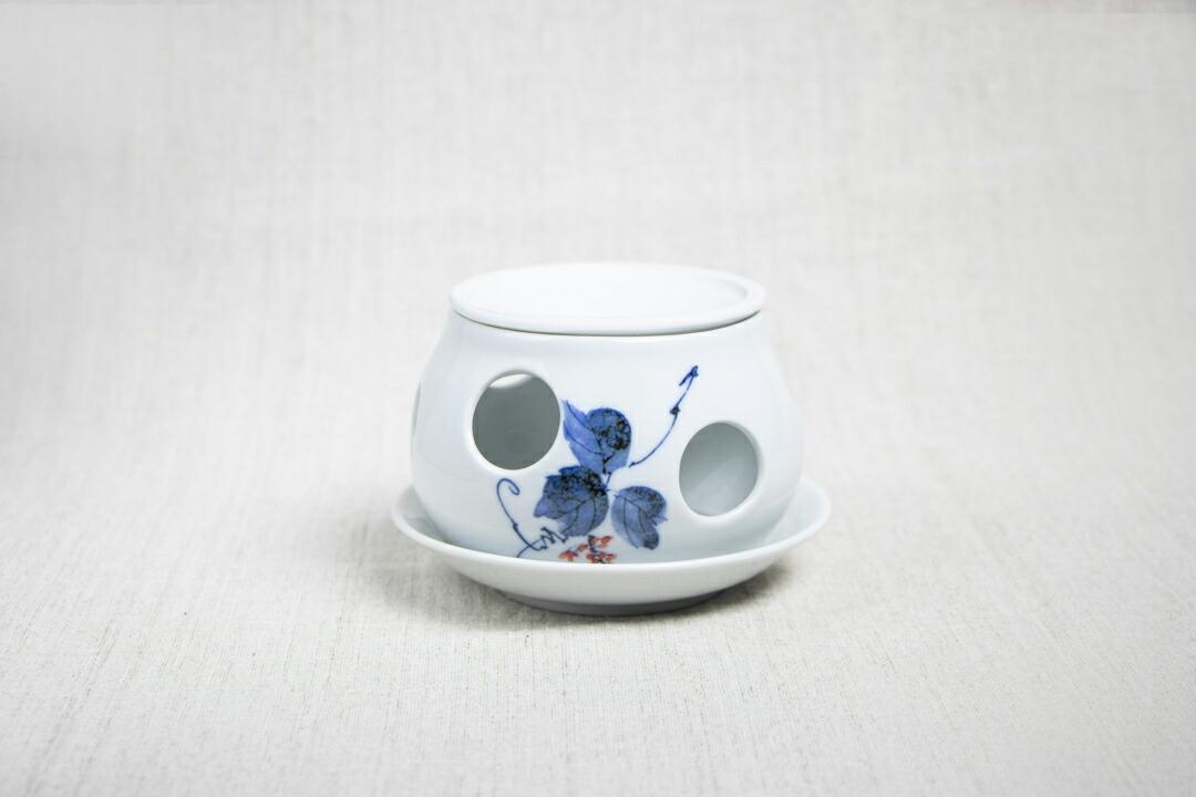 茶香炉 陶器 有田焼 くずの葉 アロマ 日本限定 アロマポット おすすめ 香炉 癒し 消臭 雑貨 茶葉 香水 リラックス インテリア おしゃれ お歳暮 日本茶 信託