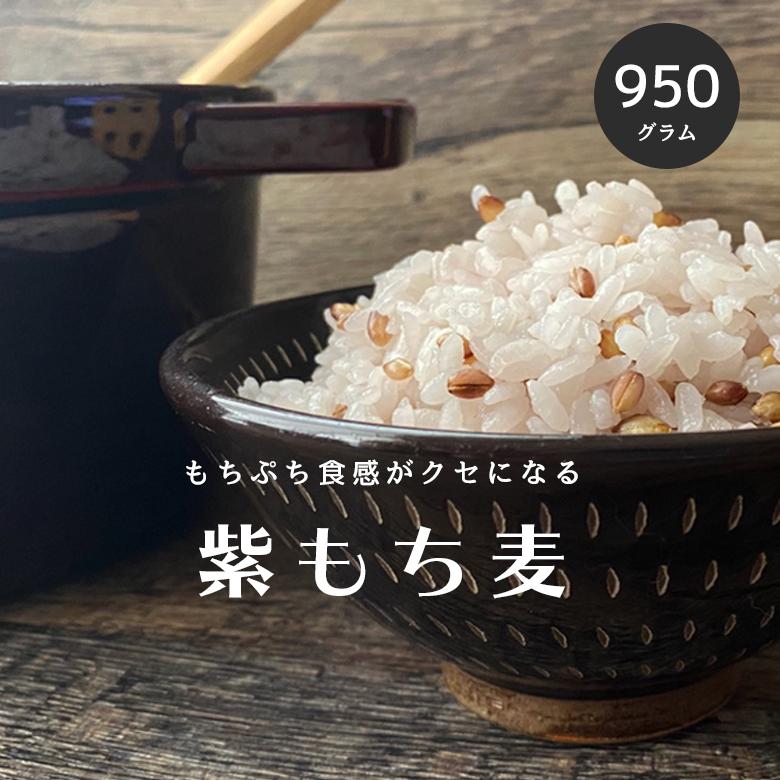 九州産紫もち麦 皮付き もち麦 国産 950g 新色追加 送料無料 メール便送料無料 ダイエット モチムギ 紫もち麦 無添加 自然の蔵 ダイシモチ こめたつ もちむぎ 日本全国
