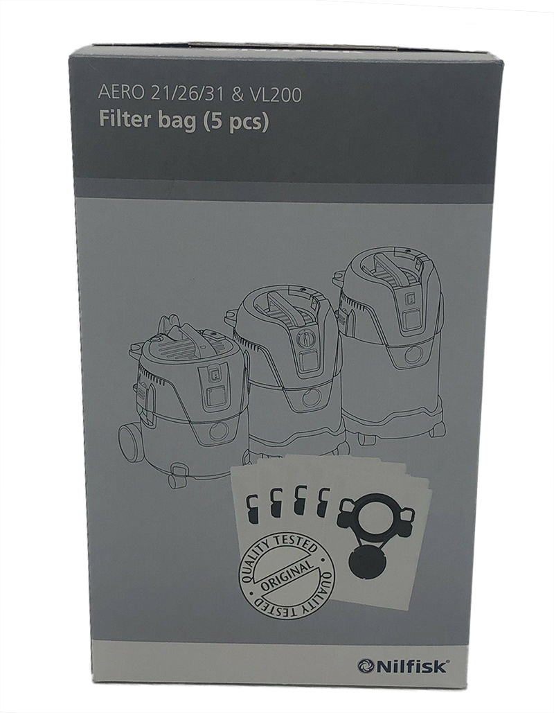 直営ストア ニルフィスク AERO用フィルターバッグ ドライ 5枚入り AERO20-01PC用 期間限定今なら送料無料 掃除機 業務用 交換 フィルター