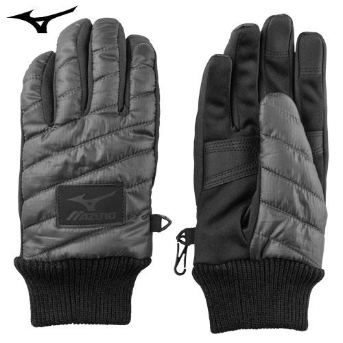 ミズノ(MIZUNO) ブレスサーモ中綿手袋 グレー S