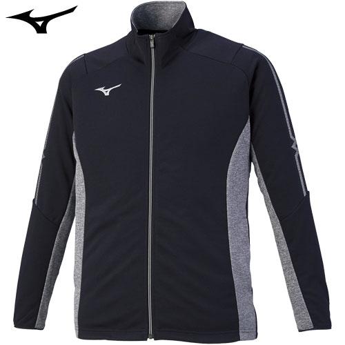 ミズノ(MIZUNO) ジャージ ウォームアップシャツ 2020年モデル ディープネイビー×グレー杢×シルバー XL