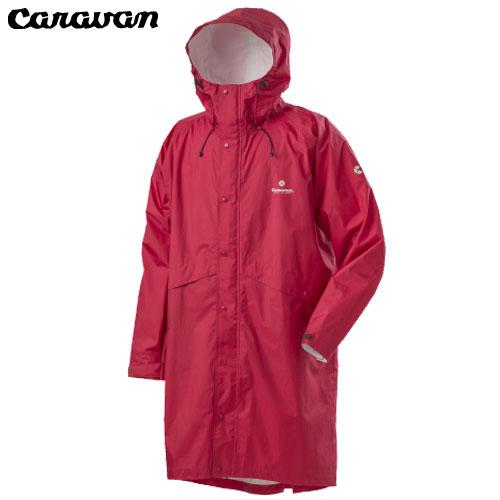 キャラバン(Caravan) エアリファイン ライト・レインポンチョ レッド M