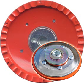 【ツボ万】塗膜はがし専用のカップホイール『静音マクトルオレンジ』(92mm×M10ネジ)
