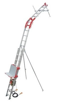 店舗良い 【ユニパー】 荷揚げ機パワーコメットUP-103P-H-2F(標準レールセット2階用・ウインチなし)スライドレール式瓦揚げ機※引っ掛け式ウインチ専用(下置き式非対応):工具のプロショップ「ふどう」-DIY・工具