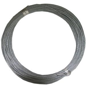 (代引き不可) 【トーヨーコーケン】ワイヤロープ(4mm×119m)#000299189(MA-650シリーズ用)(片方シンブル/片方ロック加工済み)