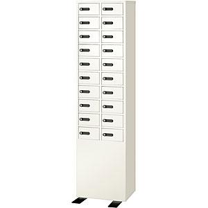【開梱設置費込】【送料無料】EIKO エーコー Dial Number Lock小物収納向け多扉ロッカー 【LK-320-2】 2列10段20人用【メーカー直送】