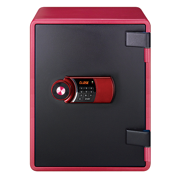 【※5月上旬~中旬入荷予定※】【開梱設置費込】EIKO エーコー 小型家庭用耐火金庫 YES COLOR SAFE テンキー式 YES-031DRD【メーカー直送】