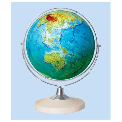 【メーカー直送】【送料無料】グローバルプランニング 地球儀 球径26cm 地勢 GP-265【楽ギフ_のし】