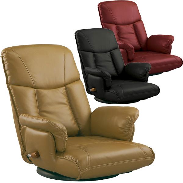 【P5倍】【メーカー直送】【送料無料】ミヤタケ(宮武製作所) スーパーソフトレザー座椅子 YS-1392A