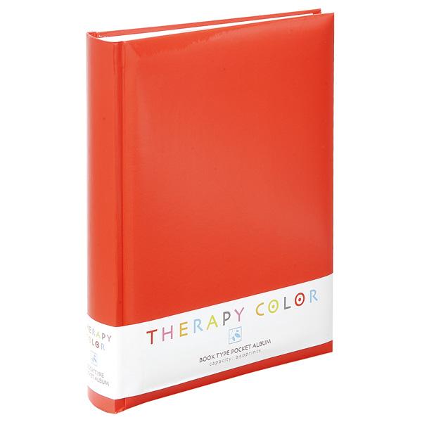 中林治疗彩色脊背圆书籍式口袋影集TCBP-240-ER能源红照片影集3段照片相片簿