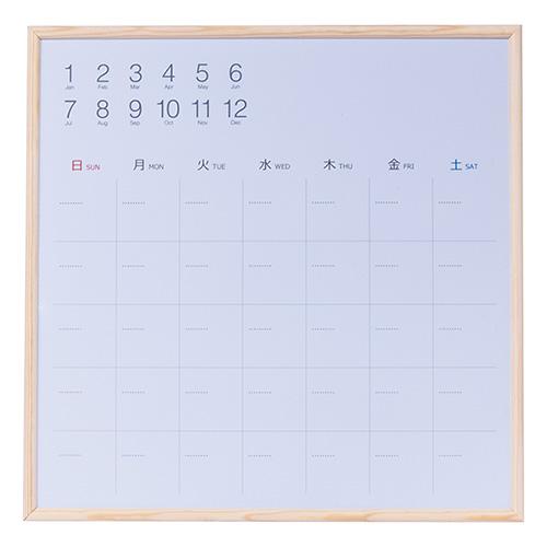 市販 書いて消せるカレンダー ナカバヤシ ウッドずっとカレンダーボードフレーム天然木 日本 CLBM-3434 340×340mm