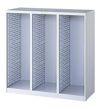 【アウトレット/数量限定特価】【送料無料】ナカバヤシ メディシス・フロアタイプA4 本体ユニット H900 S18段ベース×3列 MAF-T900N グレー 収納ボックス