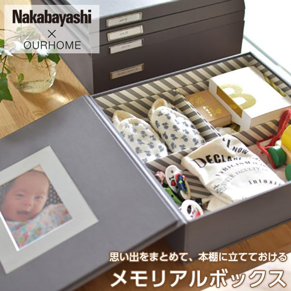 Nakabayashi×整理収納アドバイザーEmiさん「本棚に立てておける メモリアルボックス」OUR-MB-1【のし】【ギフト包装】