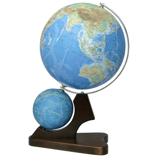【メーカー直送】【送料無料】昭和カートン SHOWAGLOBES 二球儀 地勢図26cm・天球儀13cm【キャンペーン参加で最大34倍】