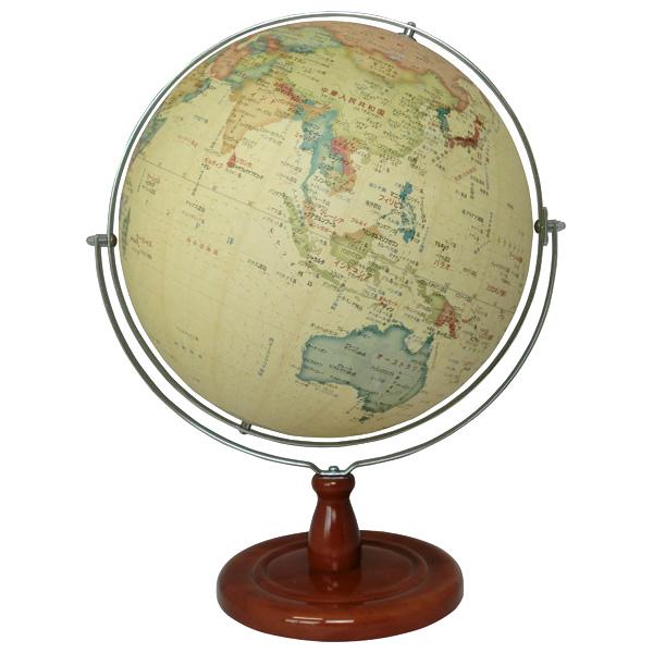 【メーカー直送】【送料無料】昭和カートン SHOWAGLOBES 地球儀 アンティークタイプ 球径32cm