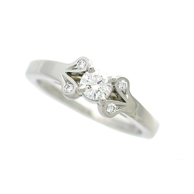 【中古】Cartier カルティエ プラチナ950 バレリーナリング ダイヤモンド 0.19ct サイズ47 GIA鑑定書付 トリプルエクセレント [送料無料]