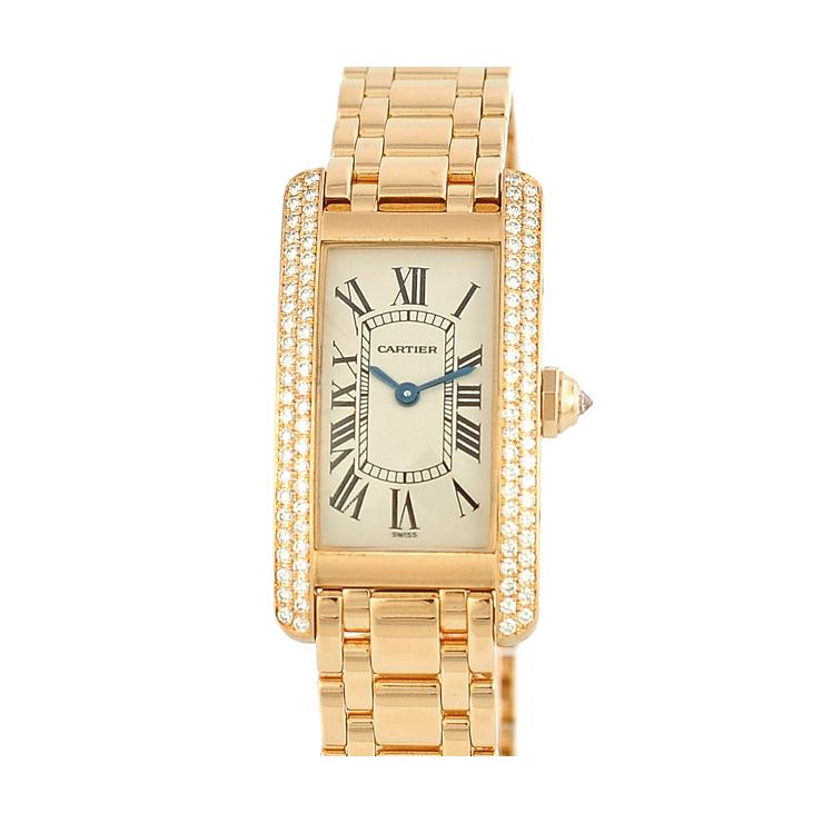 Cartier カルティエ タンクアメリカン WB701251 レディース腕時計 K18イエローゴールド 文字盤白 クォーツ 【中古】【送料無料】