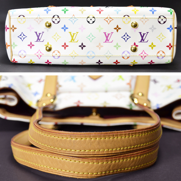 2a5abf533055 LOUIS VUITTON and Louis Vuitton multicolor Aurelia MM M40094   tote bag    white  used   free shipping