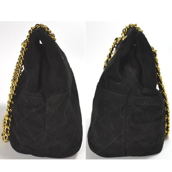 Smile Group  PRADA  Prada  suede   chain shoulder bag  black ... 16b19927e3