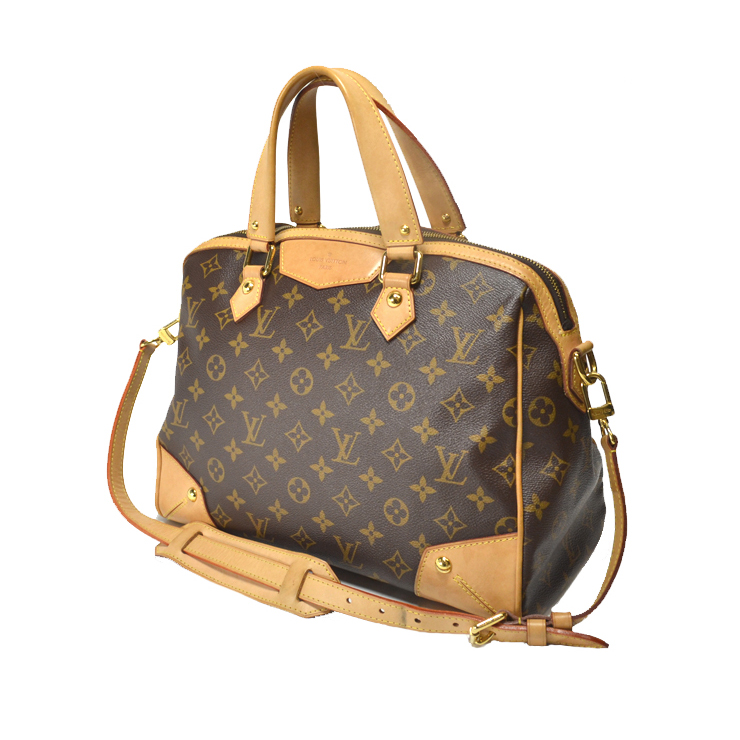 Louis Vuitton Monogram Retiro Pm M40325 2 Way Brown Used Free Shipping