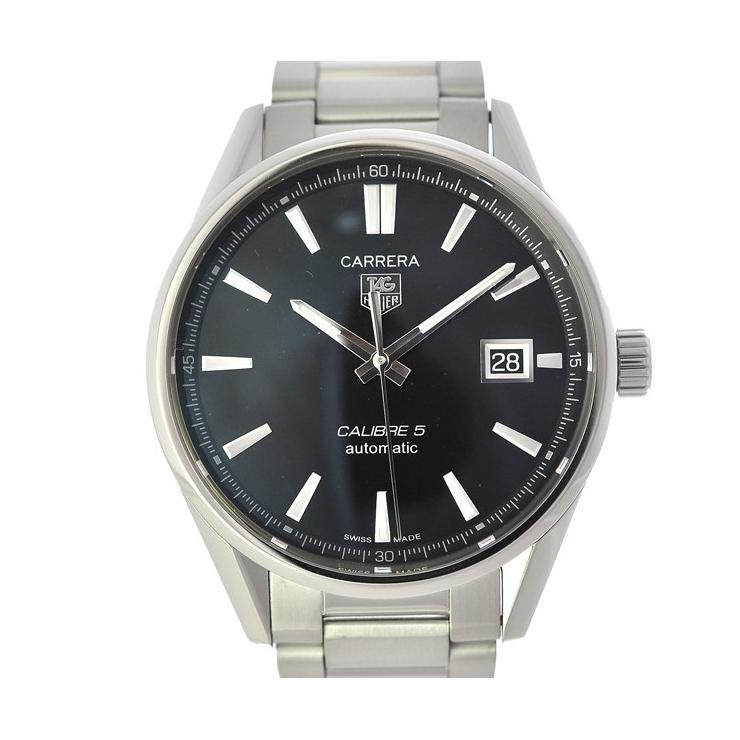 【キャッシュレス5%還元】TAG HEUER タグホイヤー カレラ バックスケルトン メンズ腕時計 SS WAR211A.BA0782 黒文字盤 自動巻き 【中古】【送料無料】