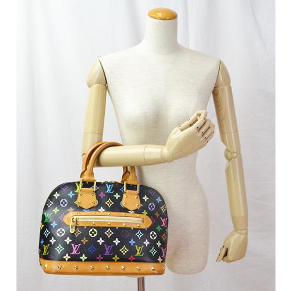 db537ba4eb06 LOUIS VUITTON Louis Vuitton multi-color Alma  M92646   handbag   Noir   used   free shipping