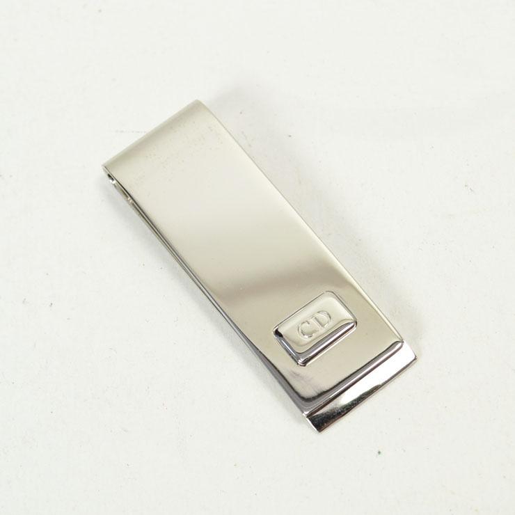 【中古】Christian Dior クリスチャンディオール マネークリップ シルバー 【送料無料】