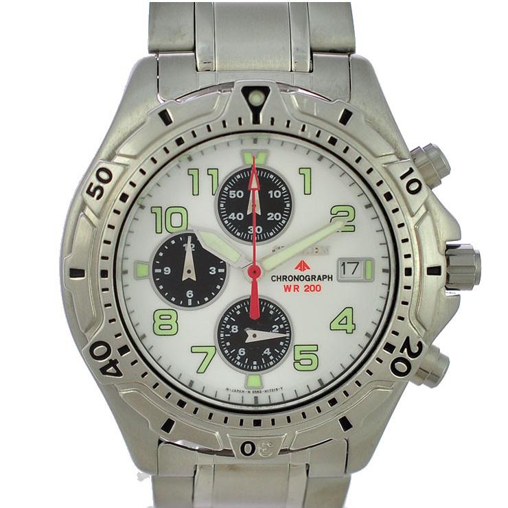 CITIZEN シチズン プロマスタークロノグラフ SS メンズ腕時計 0560-C50880 文字盤白 クオーツ 【中古】【送料無料】