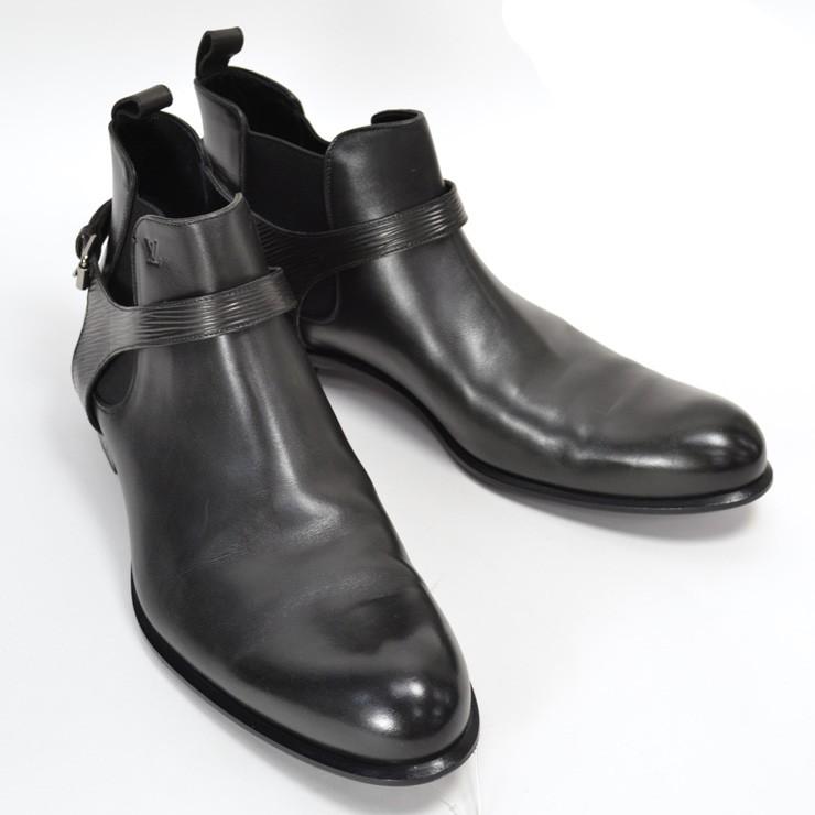ルイヴィトン ブーツ メンズ エピ レザー 靴 LOUIS VUITTON ブラック 11 29.5cm【中古】【送料無料】