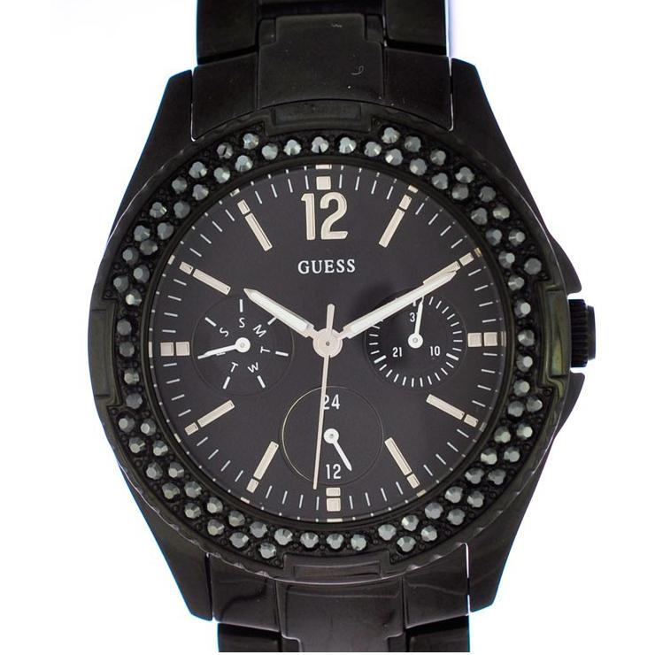 ゲス レディース腕時計 キャンディポップ W14543L1 Guess 文字盤黒 クオーツ SS 【中古】【送料無料】