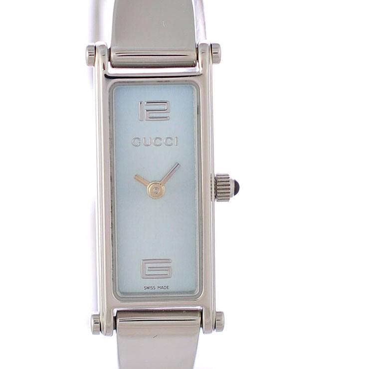 グッチ レディース腕時計 YA015535 1500L GUCCI 文字盤ライトブルー クオーツ SS 【中古】【送料無料】