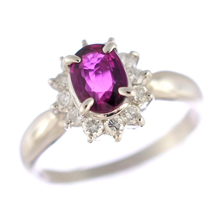 国内正規総代理店アイテム 美品 人気急上昇 中古 送料無料 ジュエリー 指輪 女性 プラチナ850 ダイヤモンド ルビー エレガントなデザインの指輪です 9.5号 リング