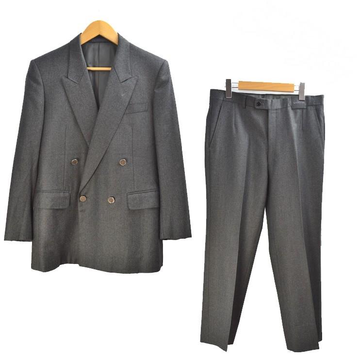【キャッシュレス5%還元】ランバン スーツ セットアップ ジャケット パンツ LANVIN グレー 27 【中古】【送料無料】