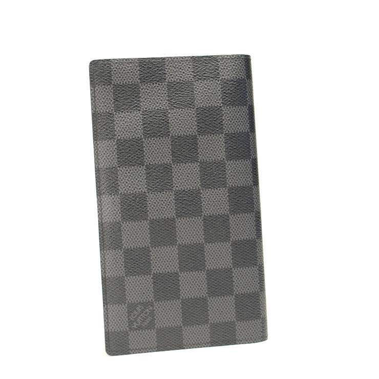 【中古】ルイヴィトン 長財布 ダミエグラフィット ポルトフォイユコロンブス N63116 LOUIS VUITTON グレー系 【美品】【送料無料】