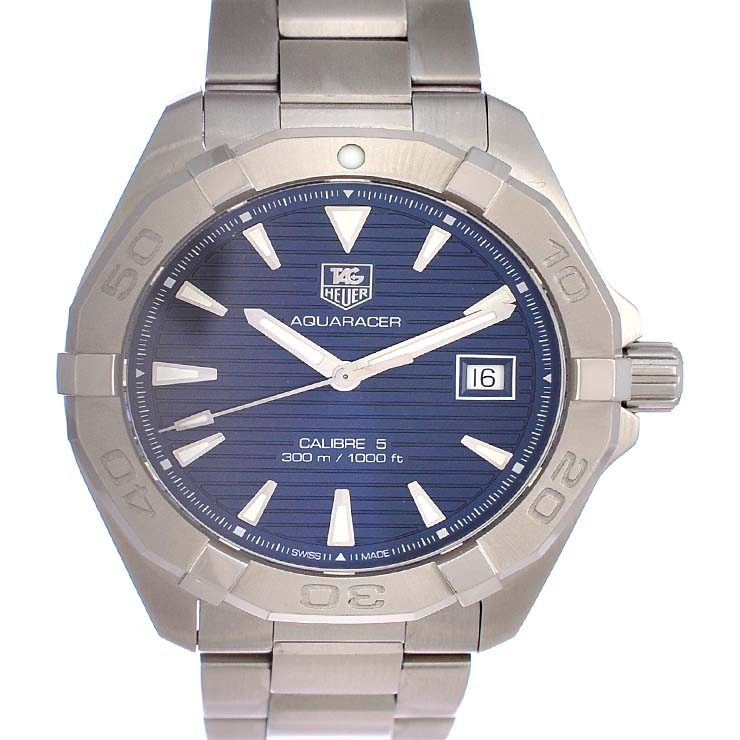 【保存版】 タグホイヤー メンズ腕時計 メンズ腕時計 アクアレーサー WAY2112-0 タグホイヤー TAG HEUER 文字盤ネイビー 自動巻き 自動巻き SS【中古】【送料無料】【美品】, リサイクルモールみっけ:d670b50b --- aikurei.co.jp