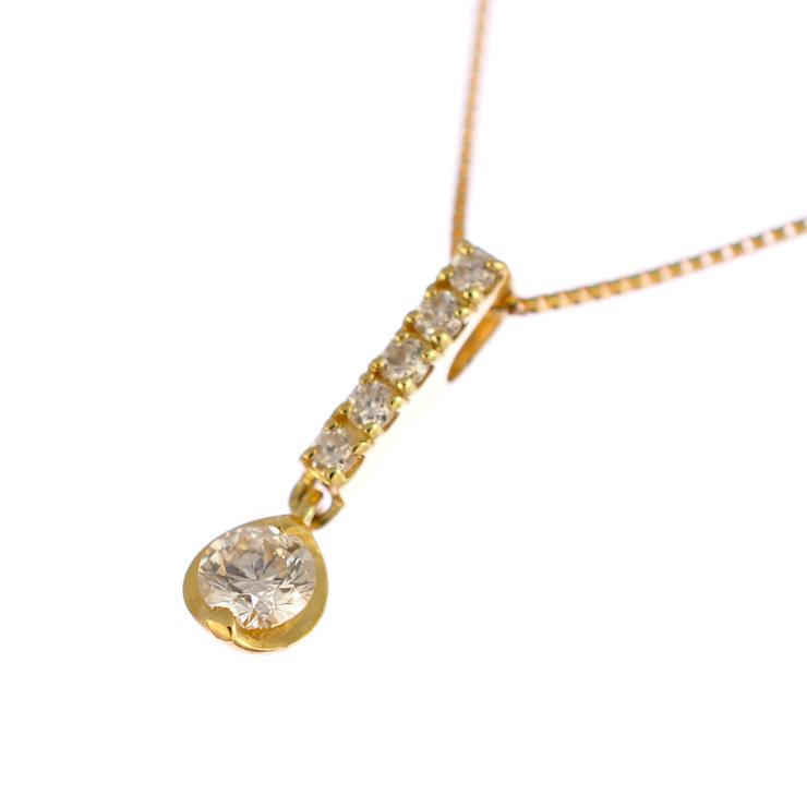 K18イエローゴールド ペンダント ダイヤモンド 【新品】【送料無料】