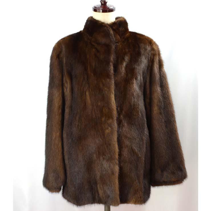 送料無料 中古 レディースアパレル アウター ファーコート 上品かつ実用的なミンクのコートです サガミンク SAGA ミンクコート ブラウンミックス 毛皮 レディース 新作アイテム毎日更新 サイズ:11号 MINK 安い