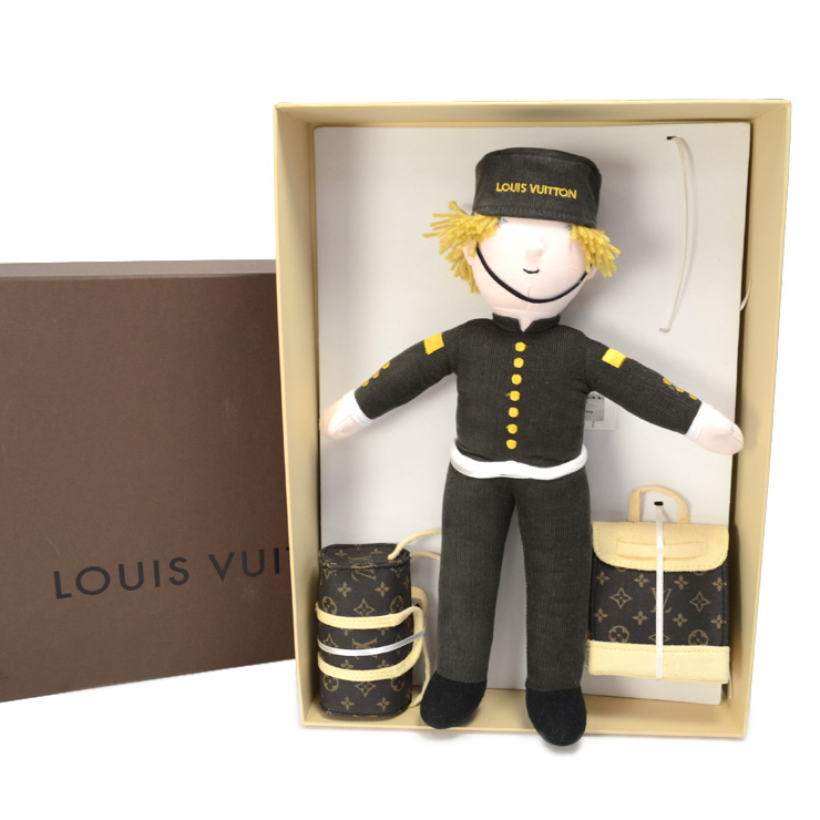 【中古】ルイヴィトン グルーム 2013年クリスマス限定 ノベルティ ベルボーイ LOUIS VUITTON 人形 [未使用品][送料無料]