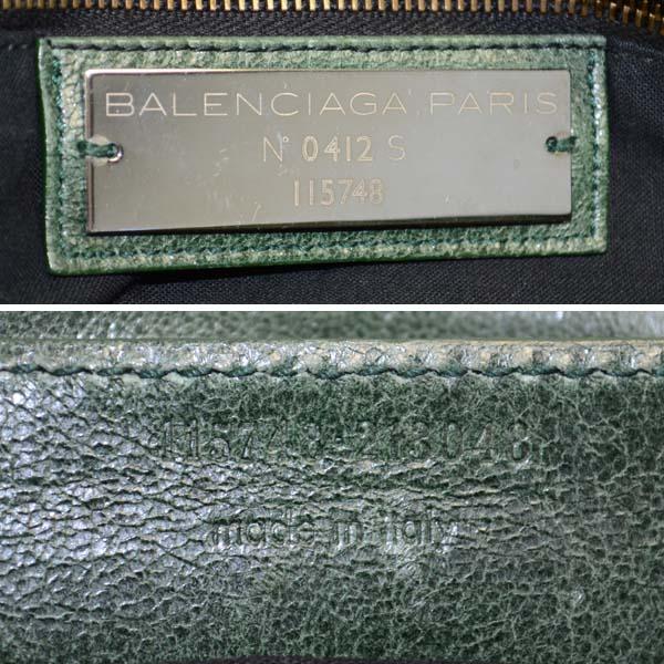 バレンシアガ 2WAYハンドバッグ ザシティ 115748 BALENCIAGA グリーン レザー送料無料R4AL5j