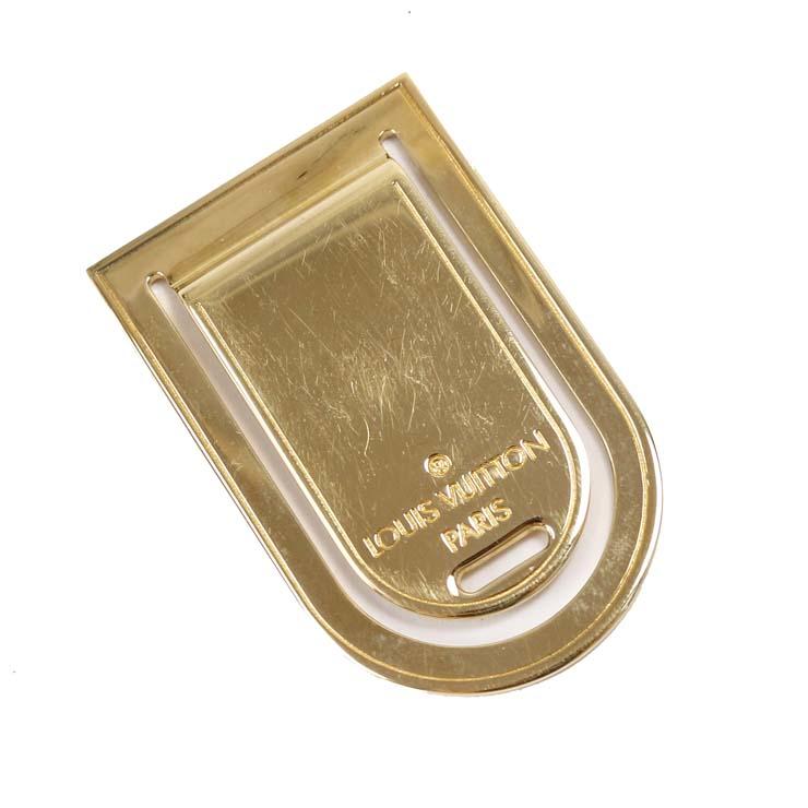 【中古】ルイヴィトン マネークリップ LOUIS VUITTON ゴールド メンズ [送料無料]