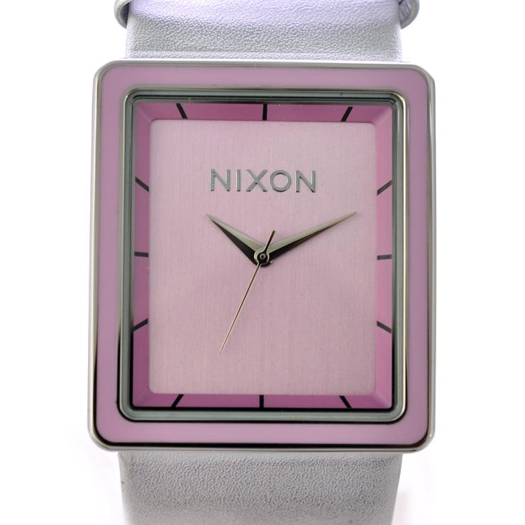 ニクソン 腕時計 ザポートレート 革 レディース A304-718 NIXON 文字盤ピンク クオーツ 【中古】