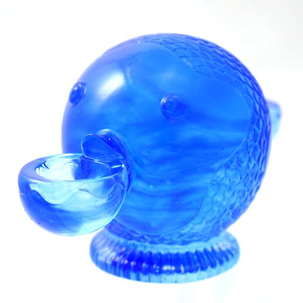 瑠璃工房 ガラス 置物 瑠璃作品 LIULIGONFANG ブルー 小物 インテリア 雑貨 【中古】【送料無料】
