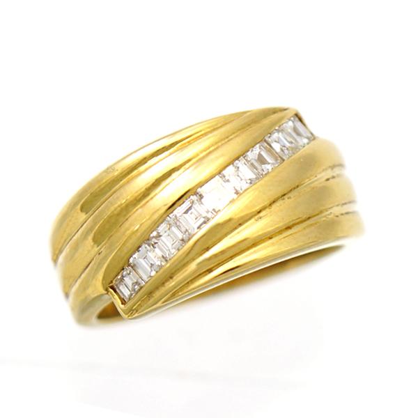 【キャッシュレス5%還元】【中古】指輪 リング K18 ダイヤモンド 0.58ct 12号 レディース ジュエリー ダイヤ [送料無料][美品]