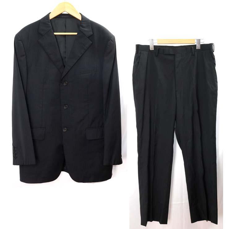 バーバリーブラックレーベル スーツ BURBERRY BLACK LABEL 黒 ストライプ メンズ セットアップ サイズ:96-84-175 【中古】【送料無料】