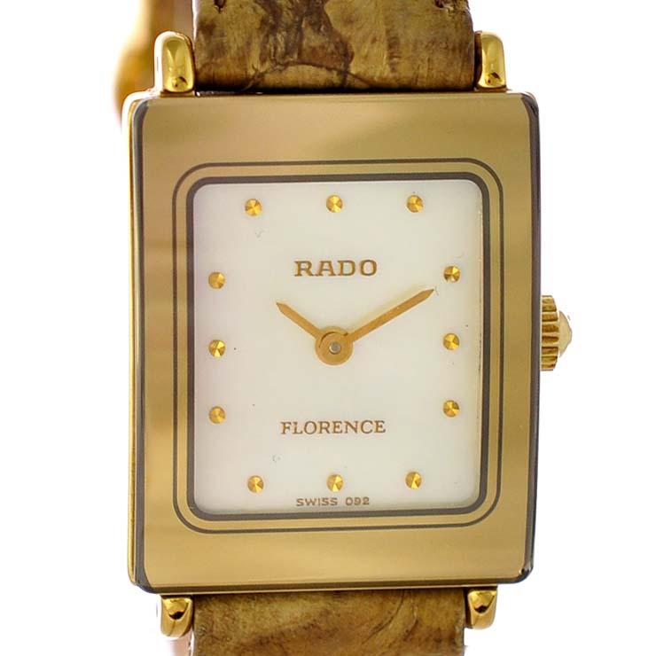 ラドー レディース腕時計 フローレンス 153.3606.2N RADO ホワイトシェル文字盤 クオーツ SS 【中古】【送料無料】