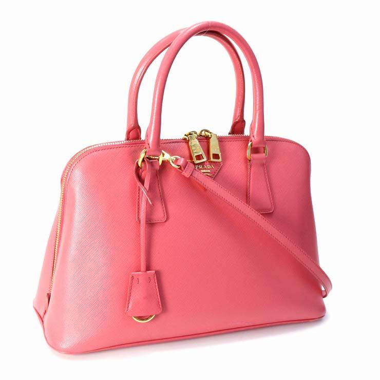 【中古】プラダ 2WAYハンドバッグ サフィアーノ BL0837 PRADA ピンク レディース かばん 【送料無料】